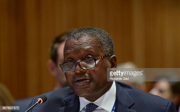 Aliko Dangote Speaks on September 18 2016 in New York City
