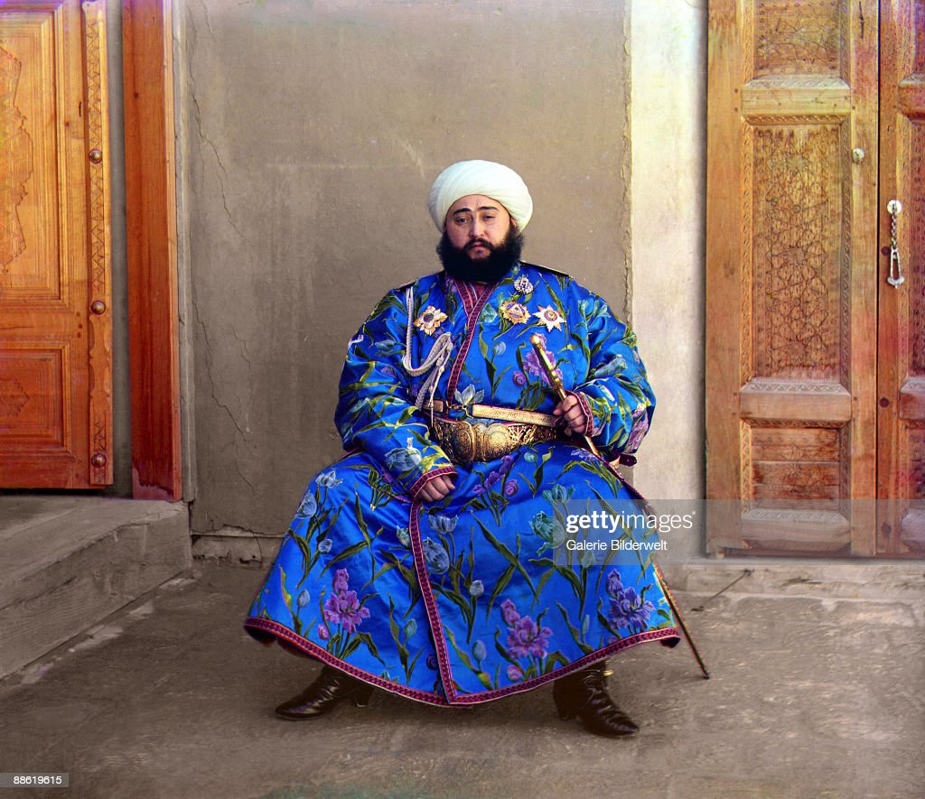 Alim Khan (1880-1944), Emir of Bukhara, Uzbekistan (formerly part of the Russian Empire), 1911.