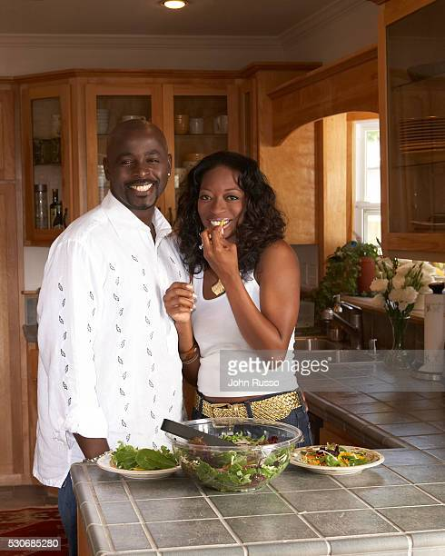 Alimi Ballard at Home with Wife in Los Angeles California