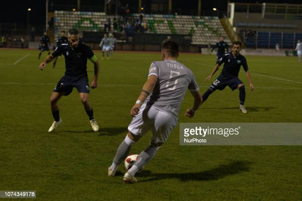 Alin Toca of PAOK control the ball during Greece Super League Football match between APO Levadeiakos and PAOK Thessaloniki in Levadia Municipal...