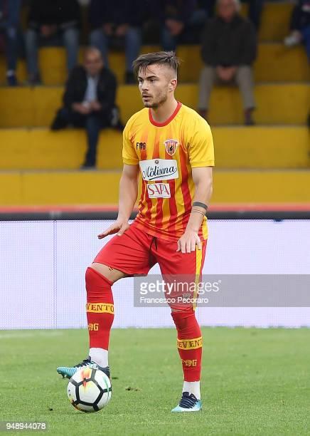 Alin Tosca of Benevento Calcio in action during the serie A match between Benevento Calcio and Atalanta BC at Stadio Ciro Vigorito on April 18 2018...