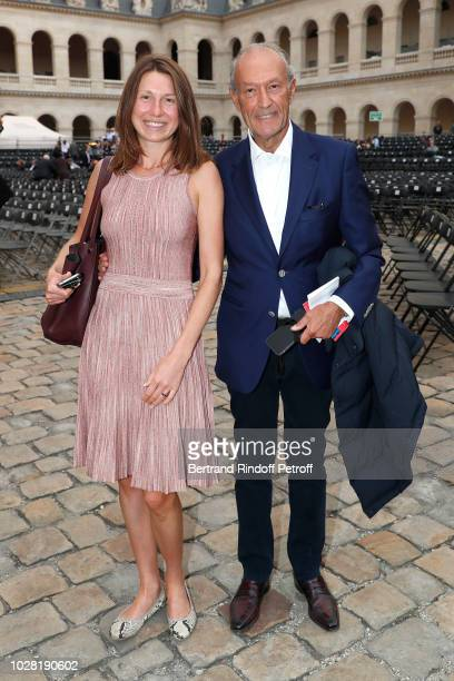 Alina Achkasova and Thierry Gaubert attend the Carmen Opera en Plein Air performance at Les Invalides on September 5 2018 in Paris France