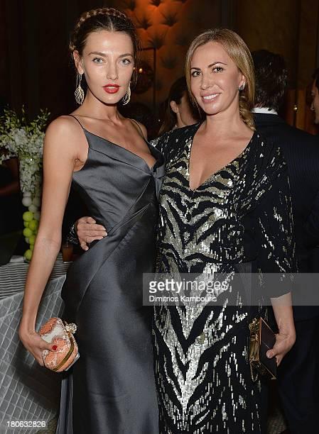 Alina Baikova and Inga Rubenstein attend The Novak Djokovic Foundation New York Dinner at Capitale on September 10 2013 in New York City