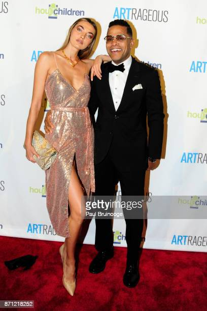 Alina Baikova and Maxwell attend the Event Name ARTrageous Gala Dinner Art Auction Celebrating Hour Children 30th Anniversary at Cipriani 25 Broadway...