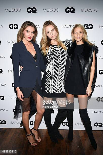 Alina Baikova Andreja Pejic and Michaela Kocianova attend the GQ Gentlemen's Fund cocktail reception awards ceremony at The Gent on October 22 2015...