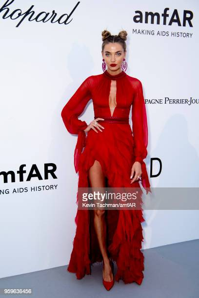 Alina Baikova arrives at the amfAR Gala Cannes 2018 at Hotel du CapEdenRoc on May 17 2018 in Cap d'Antibes France