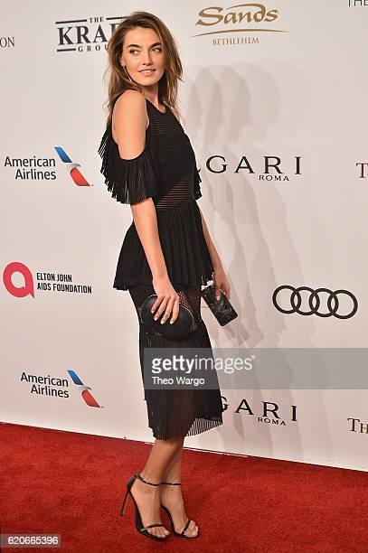 Alina Baikova attends 15th Annual Elton John AIDS Foundation An Enduring Vision Benefit at Cipriani Wall Street on November 2 2016 in New York City