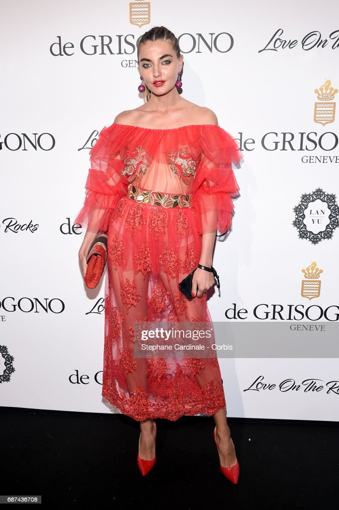 Alina Baikova attends DeGrisogono 'Love On The Rocks' during the 70th annual Cannes Film Festival at Hotel du Cap-Eden-Roc on May 23, 2017 in Cap d'Antibes, France.