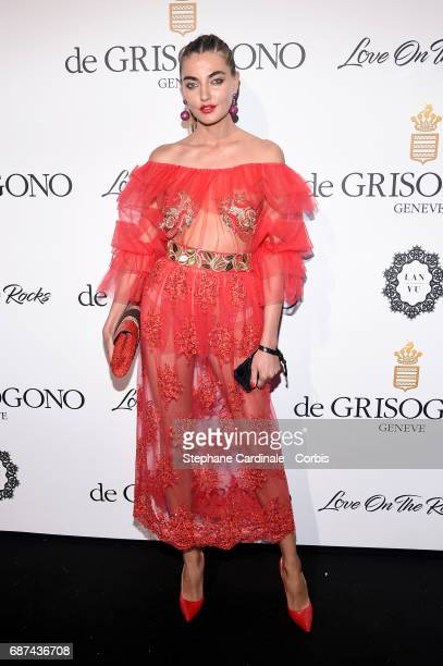 Alina Baikova attends DeGrisogono 'Love On The Rocks' during the 70th annual Cannes Film Festival at Hotel du CapEdenRoc on May 23 2017 in Cap...