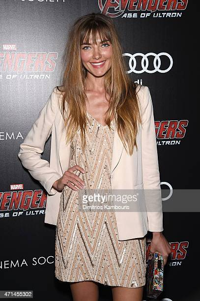 Alina Baikova attends The Cinema Society Audi screening of Marvel's 'Avengers Age of Ultron' on April 28 2015 in New York City