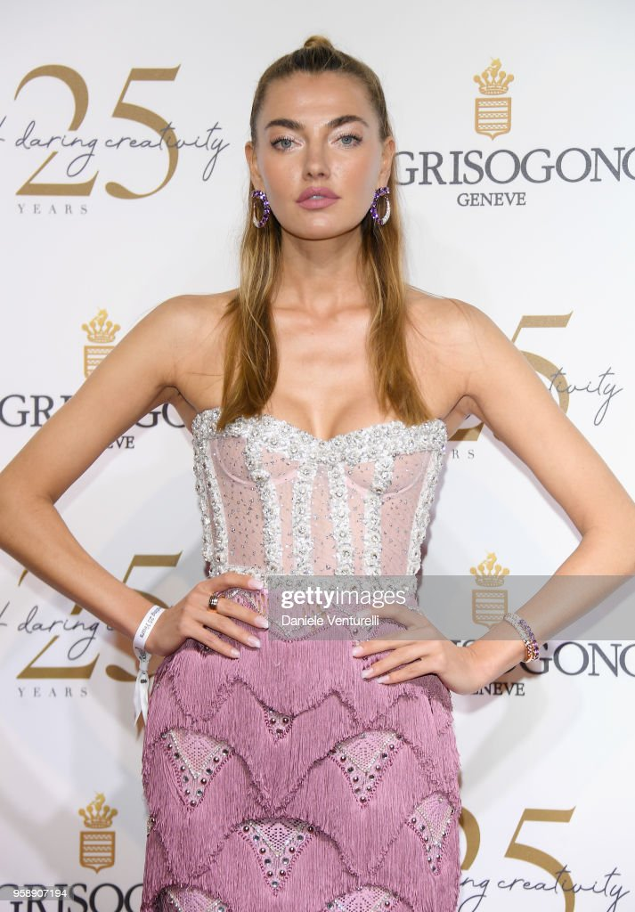 Alina Baikova attends the De Grisogono Party during the 71st annual Cannes Film Festival at on May 15, 2018 in Antibes, France.