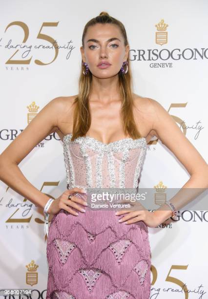 Alina Baikova attends the De Grisogono Party during the 71st annual Cannes Film Festival at on May 15 2018 in Antibes France