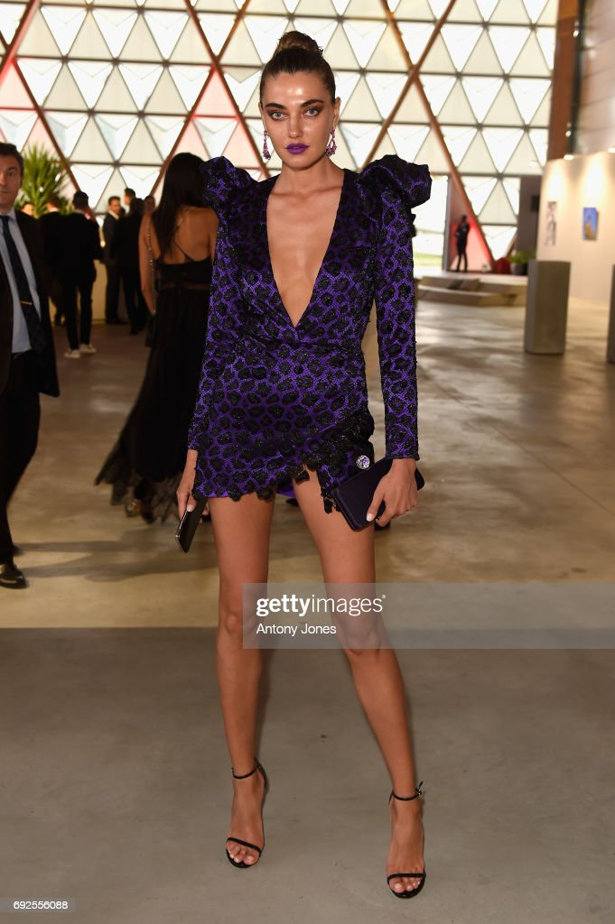 Alina Baikova attends the Fashion for Relief event during the 70th annual Cannes Film Festival at Aeroport Cannes Mandelieu on May 21, 2017 in Cannes, France.