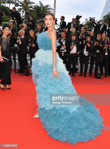 Alina Baikova attends the screening of A Hidden Life during the 72nd annual Cannes Film Festival on May 19 2019 in Cannes France