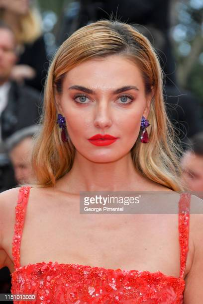 Alina Baikova attends the screening of Oh Mercy during the 72nd annual Cannes Film Festival on May 22 2019 in Cannes France