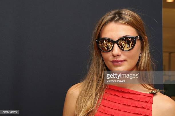 Alina Baikova attends the Shamballa Eyewear new collection launch at Saks Fifth Avenue on June 10 2016 in Mexico City Mexico
