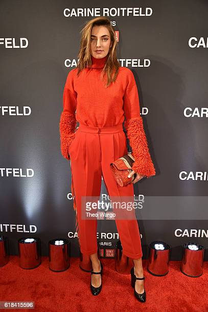 Alina Baikova attends the UNIQLO Fall/Winter 2016 Carine Roitfeld collection launch at UNIQLO on October 26 2016 in New York City