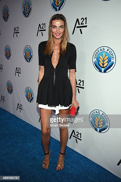 Alina Baikova attends the Unitas gala against Sex Trafficking at Capitale on September 15 2015 in New York City
