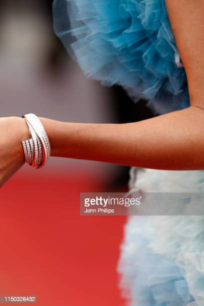 Alina Baikova DETAIL attends the screening of A Hidden Life during the 72nd annual Cannes Film Festival on May 19 2019 in Cannes France