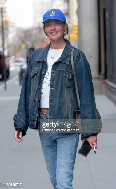 Alina Baikova is seen on March 15 2019 in New York City