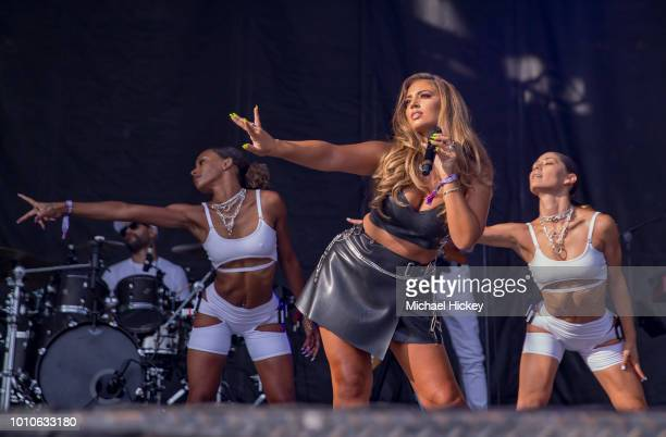 Alina Baraz peforms on day two of Lollapalooza at Grant Park on August 3 2018 in Chicago Illinois