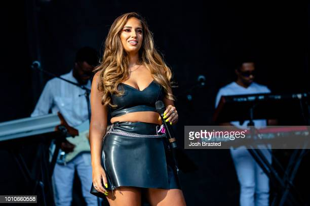 Alina Baraz performs at Lollapalooza 2018 at Grant Park on August 3 2018 in Chicago Illinois