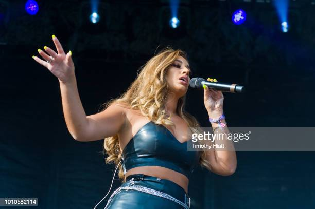 Alina Baraz performs on day two of Lollapalooza at Grant Park on August 3 2018 in Chicago Illinois