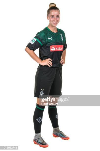 Alina Busshuven poses during the Borussia Moenchengladbach Women's team presentation on on August 6 2018 in Moenchengladbach Germany