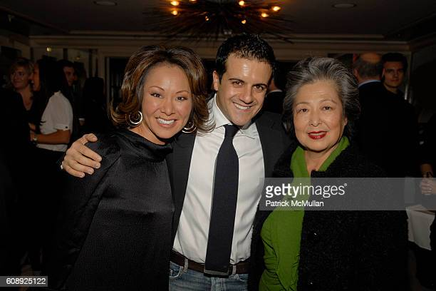 Alina Cho Amadeo Scognamiglio and Kim Cho attend FARAONE MENNELLA 5th Year Anniversary Party at Bergdorf Goodman on November 28 2007 in New York City