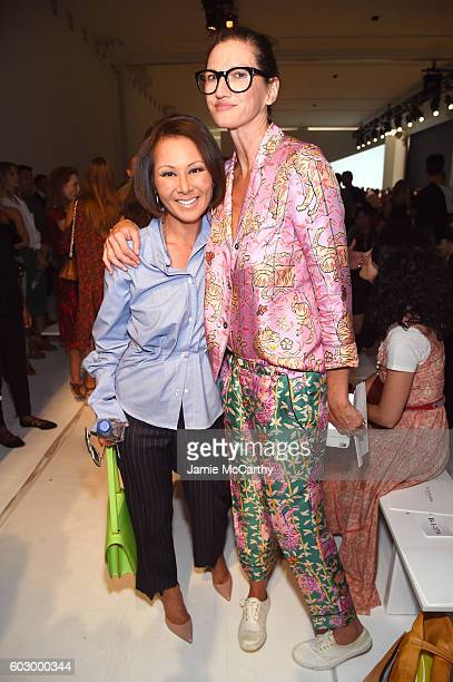 Alina Cho and Jenna Lyons attend the Altuzarra fashion show during New York Fashion Week September 2016 at Spring Studios on September 11 2016 in New...