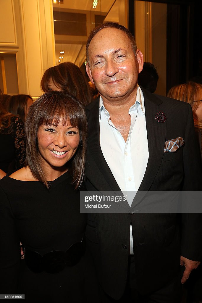 Alina Cho and John Dempsey attend The Opening Of Pucci New Boutique At 46/48 Avenue Montaigne on September 28, 2013 in Paris, France.