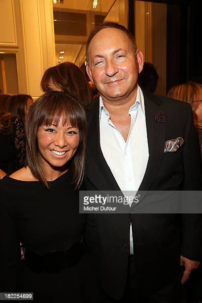Alina Cho and John Dempsey attend The Opening Of Pucci New Boutique At 46/48 Avenue Montaigne on September 28 2013 in Paris France
