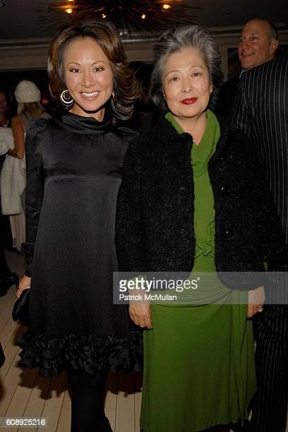 Alina Cho and Kim Cho attend FARAONE MENNELLA 5th Year Anniversary Party at Bergdorf Goodman on November 28 2007 in New York City