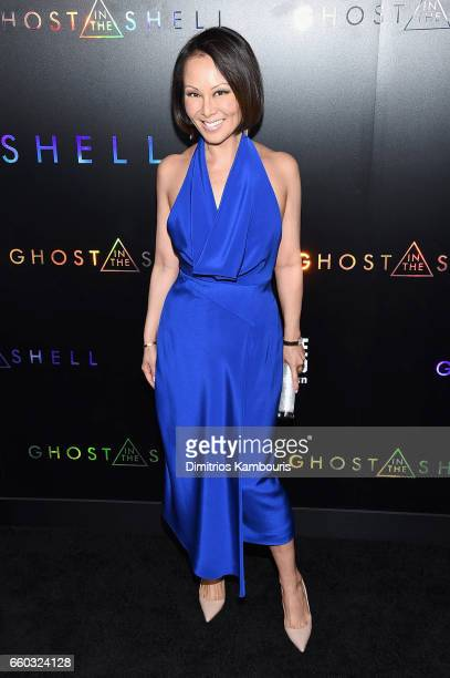 """Alina Cho attends the """"Ghost In The Shell"""" premiere hosted by Paramount Pictures & DreamWorks Pictures at AMC Lincoln Square Theater on March 29,..."""