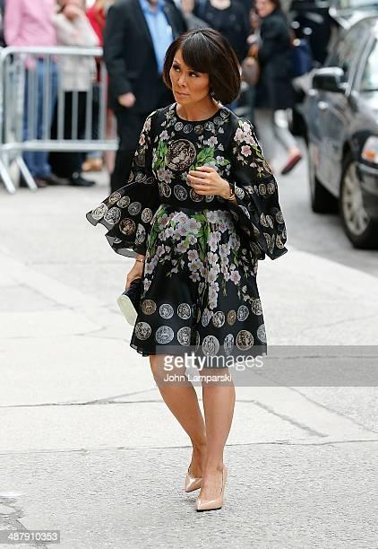 Alina Cho attends the memorial service for L'Wren Scott at St Bartholomew's Church on May 2 2014 in New York City Fashion designer L'Wren Scott...