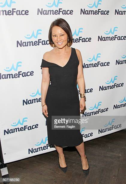 Alina Cho attends the NameFacecom launch party at No 8 on January 27 2016 in New York City