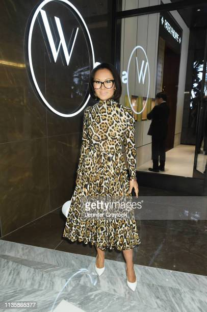 Alina Cho attends the Watches Of Switzerland Hudson Yards opening on March 14 2019 at Hudson Yards in New York City