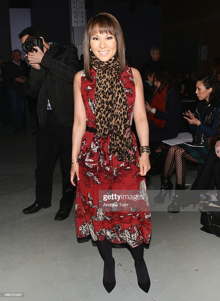 Alina Cho attends the Wes Gordon fashion show during Mercedes-Benz Fashion Week Fall 2014 on February 11, 2014 in New York City.