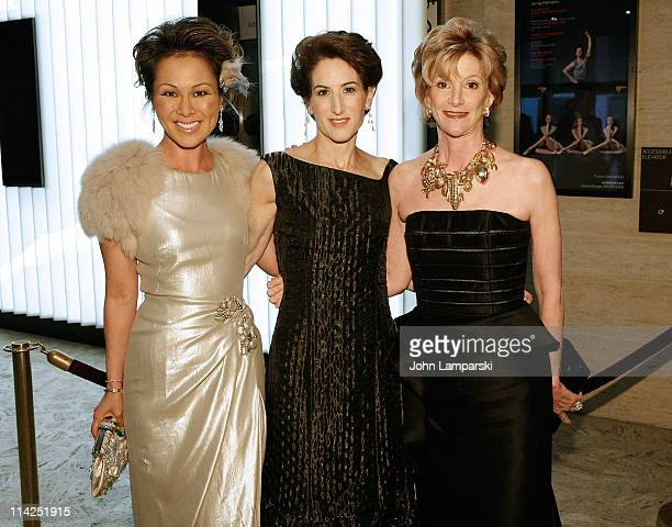 Alina Cho Stacy Schiff and Jackie Weld Drake attend Literacy Partners' 27th annual Evening of Readings gala at David H Koch Theater Lincoln Center on...