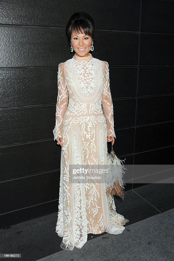 Alina Cho wearing Valentino attends the New Yorkers for Children 10th Anniversary Spring Dinner Dance New Year's in April: A Fool's Fete to benefit youth in foster care presented by Valentino at Mandarin Oriental Hotel on April 9, 2013 in New York City.
