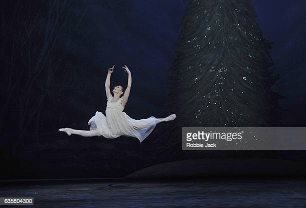 Alina Cojocaru as Clara in English National Ballet's production of Wayne Eagling's The Nutcracker at The London Coliseum on December 13 2016 in...
