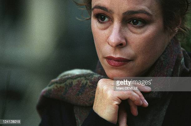 Alina Fernandez, Fidel Castro's daughter In Paris, France On February 18, 1998.