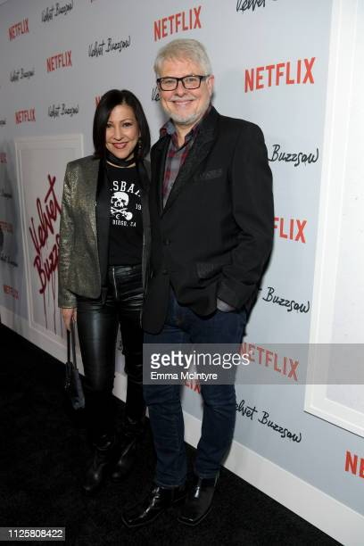 Alina Foley and Dave Foley attend the Los Angeles premiere screening of 'Velvet Buzzsaw' at American Cinematheque's Egyptian Theatre on January 28...