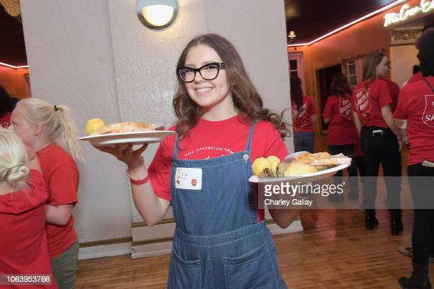 Alina Foley attends Salvation Army NICKELODEON Feast of Sharing on November 20 2018 in Los Angeles California