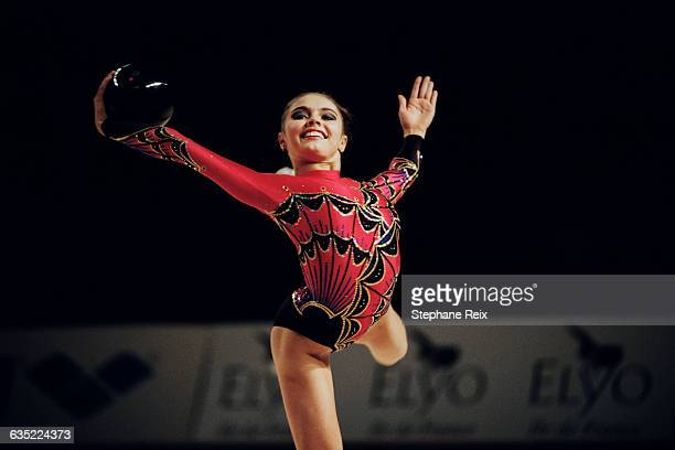 Alina Kabaeva from Russia performs with ball at the International tournament of Thiais | Location Thiais France