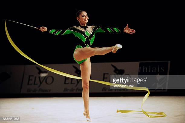 Alina Kabaeva from Russia performs with ribbon at the International tournament of Thiais. | Location: Thiais, France.