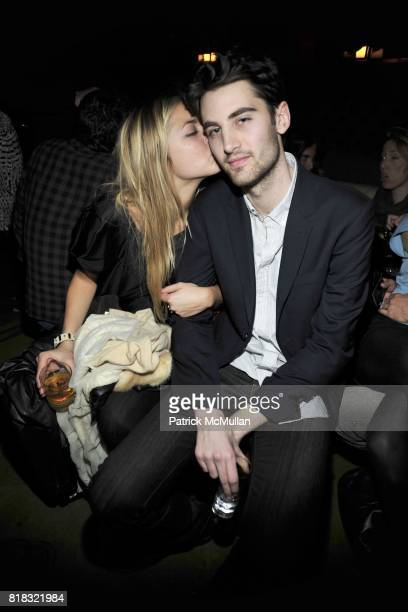 Alina Kohlem and Kyle Hotchkiss Carone attend THE PURPLE Fashion Magazine After Party at Gramercy Park Hotel on February 14 2010 in New York City