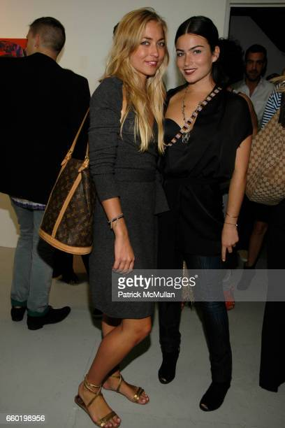 Alina Kohlem and Victoria Alexander attend RENTAL presents Don't Panic I'm Selling My Collection at RENTAL Gallery on July 9 2009 in New York City