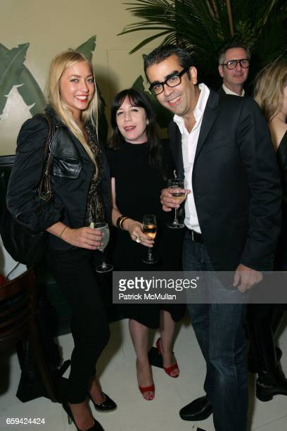 Alina Kohlem guest and Enoch Perez attend the After Party for Dennis Hopper's 'Signs of The Times' Opening at Indochine on September 12 2009 in New...