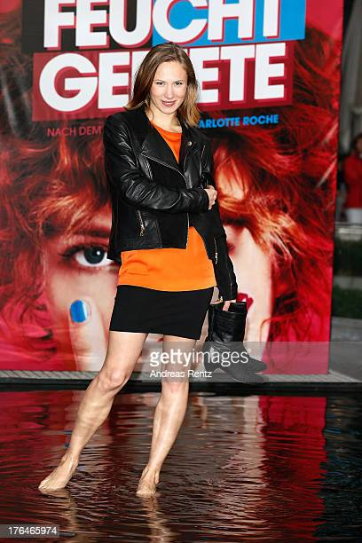 Alina Levshin attends 'Feuchtgebiete' Germany Premiere at Sony Centre on August 13 2013 in Berlin Germany